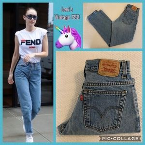 Levi's Vintage 550 High Rise Relaxed 501 Mom Jeans